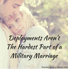 """""""If you can hang around, stay supportive, and stay married after everything that is involved with PTSD, I commend you. It's the hard part."""" I am a wife to a veteran with PTSD."""