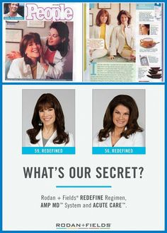 """How cool is this from 2002 when our Doctors were in People Magazine and 13 years later... look at them now!! Talk about aging gracefully and beautifully! They are truly the product of their own products!   """"We are not a direct sales company that chose to sell skin care, but a skin care company who chose direct sales as its business model.""""  Join my amazing team! www.frisco.myrandf.biz"""