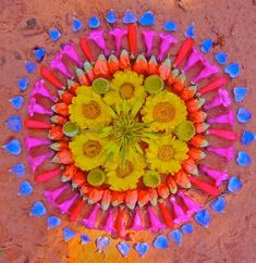 Unknown-1 Teesha Moore's blog on Mandalas and flowers--I invented idea of turning fruit pizza into flower mandalas with edible blossoms (must plant nasturtiums, violets, calendulas, etc. next spring!)