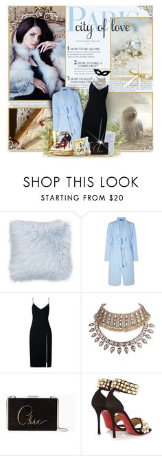 """""""""""when your happiness is someone else's happiness, that is love"""""""" by perplexidadesilencio ❤ liked on Polyvore featuring Thro, Boohoo, Christopher Esber, WithChic, Kate Spade, Christian Louboutin, WALL, lanadelrey, Clutch and LBD"""