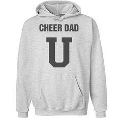Cheer dad university | Custom fun cheer dads hoodie.