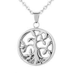 VALYRIA Jewelry Stainless Steel Tree of Life Urn Keepsake Cremation Ashes Pendant *** Details can be found by clicking on the image. (This is an affiliate link and I receive a commission for the sales)