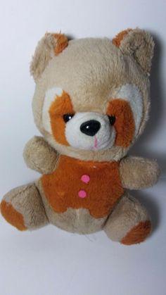 Tubby Brown Tan Cream Pumpkin Orange White Racoon Vintage Plush Stuffed  #Tubby #racoon #racoonplush #vintageplush #pumpkin Misfit Toys, Racoon, Plush, Pumpkin, Teddy Bear, Cream, Orange, Brown, Animals