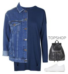 """""""Shirt dress"""" by f-resh ❤ liked on Polyvore featuring Topshop, women's clothing, women, female, woman, misses and juniors"""