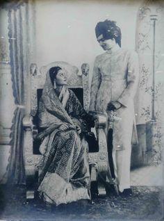 The late Maharani Gayatri Devi of Jaipur on her wedding day