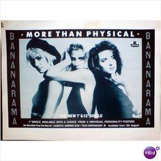 Bananarama. Advert More Than Physical (version 1) Robert Palmer I didnt mean on eBid United Kingdom