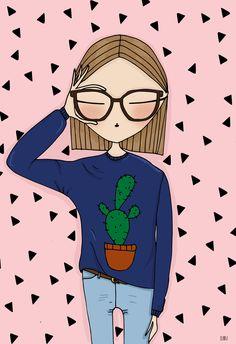 Selfie by Blanka Biernat custom portrait illustration