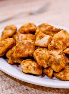 Simple Chicken Nuggets Recipe from addapinch.com