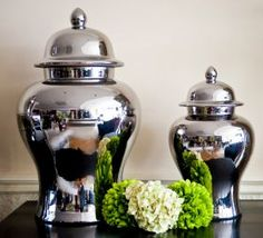 Chrome Ginger Jars