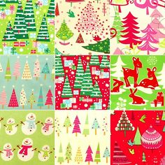 Christmas fabrics collage by Holland Fabric House, via Flickr