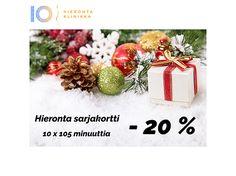 Joulukalenteri 9. luukku | Hieronta Leppävaara | Hieronta IO-Klinikka