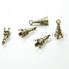 30pcs Antique Brass Tone Base Metal Charms-Eiffel Tower by clbeads