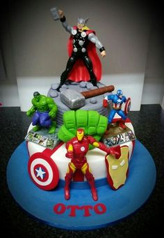 Avengers Birthday Cakes Superman Party 4th Boy Parties
