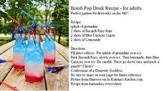 Bomb Pop Drinks Recipe - Adult