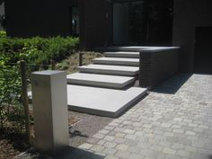 Porch Steps, Stair Steps, Front Steps, Entry Stairs, Exterior Stairs, Front House Landscaping, Modern Landscaping, Modern Landscape Lighting, Modern Entry