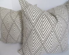22X22 Pillow, Decorative Pillow, Brown And Beige Pillow-Taupe Pillow- Ikat Pillow- Home Decor- Home Pillow