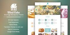 WindCake - OnePage WordPress Theme - Restaurants & Cafes Entertainment