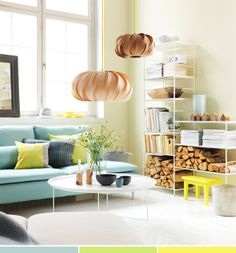 pale colors in the living room #decor #green #casa #sala