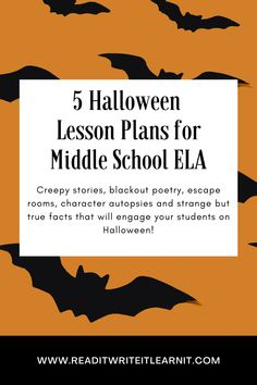 Engage your middle school ELA students on Halloween with these fun, easy to implement lesson plans. Students learn valuable, standards-based skills in a fun, spooky way that gets them excited to learn! Check out these five ideas for the best classroom Halloween ever! Middle School Ela, High School, Found Poem, Text Based Evidence, Reading Response Activities, The Tell Tale Heart, 7th Grade Ela, Creepy Stories, Independent Reading