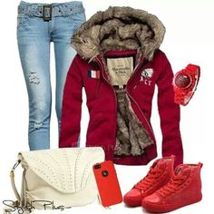 Red...my fav color. Really like this comfy style.