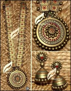 Terracotta jewelry necklace set - online shopping for jewellery sets by prakrithi