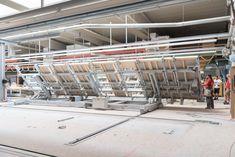 Fertigungsanlage im HARTL HAUS Werk bei Echsenbach Bungalows, Montage, Modern Bungalow, Bungalow, Ranch Homes