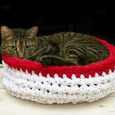 Patrón Cama para gatos de trapillo