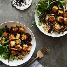 Crispy Sesame Baked Tofu & Shiitake Mushrooms Recipe on Food52 recipe on Food52