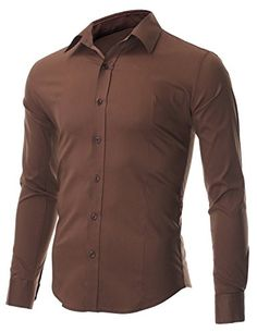FLATSEVEN Men's Slim Fit Casual Button Down Dress Shirt Long Sleeve (SH600) Brown, XL FLATSEVEN http://www.amazon.com/dp/B00OWXYKPW/ref=cm_sw_r_pi_dp_Sgj1ub19HC2VB