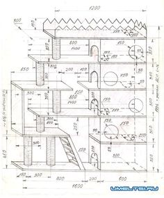 Cat House Plans, Cat Tree Plans, Cat Tree House, Cat House Diy, Cat Tree Designs, Diy Cat Tower, Cat Castle, Pet Hotel, Cat Cages