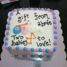 Twin baby shower cake boy/girl