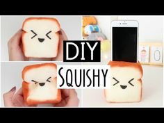 DIY Squishy Bread Loaf Phone Holder! - YouTube