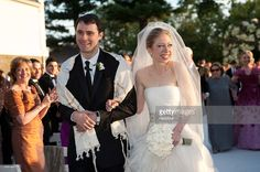 In this handout image provided by Genevieve de Manio, Chelsea Clinton (R) weds Marc Mezvinsky at the Astor Courts Estate on July 31, 2010 in Rhinebeck, New York. Chelsea Clinton, the daughter of former U.S. President Bill Clinton and Secretary of State Hillary Clinton, married Marc Mezvinsky today in an interfaith ceremony at the estate built by John Jacob Astor on the Hudson River about two hours north of New York City. Celebrity Wedding Photos, Celebrity Wedding Dresses, Celebrity Weddings, Chelsea Clinton Wedding, Chelsea Wedding, Wedding Ceremony Ideas, Wedding Gallery, Trump Wedding, Wedding Photo Pictures