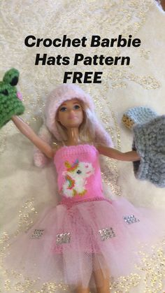 Doll Clothes Patterns, Clothing Patterns, Double Crochet, Single Crochet, Crochet Cactus Free Pattern, Crochet Barbie Clothes, Fabric Toys, Yarn Crafts, Barbie Dolls