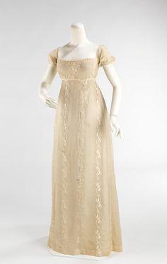 Evening dress, 1810-1812