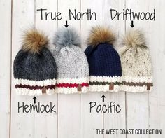 the West Coast Collection - Adult Sizes – Wild Child Designs Loom Knitting, Knitting Patterns Free, Free Knitting, Baby Knitting, Crochet Patterns, Knitting Designs, Knit Or Crochet, Crochet Crafts, Free Crochet
