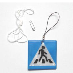 Vỉa hè mô hình Phản Quang mặt dây chuyền, Phản Quang keychain cho có thể nhìn thấy an toàn treo lơ lửng trên túi, điện thoại di động, quần áo, miễn phí vận chuyển