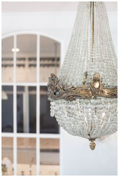 ♕ Gorgeous French Chandelier in Annie& house ~ Melinda Ortley Photography Chandelier Bougie, French Chandelier, Empire Chandelier, Antique Chandelier, Chandelier Lighting, Antique Mirrors, Crystal Chandeliers, Bedroom Lighting, French Style Homes