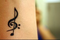 Previous pinner: my music tattoo - treble clef, bass clef & a note, Tattoo, Love this! Previous pinner: my music tattoo - treble clef, bass clef & a note. Tattoo Girls, Cute Girl Tattoos, Small Girl Tattoos, Pretty Tattoos, Tattoos For Women Small, Wrist Tattoos For Girls, Piercing Tattoo, Ink Tattoo, Tattoo You