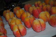 Reteta Piersici din Carte de bucate, Dulciuri. Specific Romania. Cum sa faci Piersici No Bake Desserts, Pastries, Gem, Deserts, Muffin, Peach, Sweets, Cakes, Baking