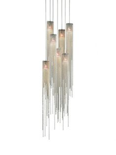 The Nova Bead 7 Light Pendant has beads that give make it shimmer under light. The beads of the Nova Bead 7 Light Pendant is made from steel in a brushed nickel finish. Pendant Light Fixtures, Pendant Lamp, Pendant Lighting, Light Pendant, Bel Air Lighting, Home Lighting, Interior Lighting, Lighting Ideas, Chandeliers
