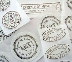 Art Stickers Hand Stamped by on Etsy Art In The Age, Circle Art, Dream Art, Imaginative Play, Letter Writing, Paper Goods, Custom Stickers, Unique Art, Impressionism