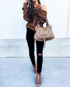 Wore the cutest off-the-shoulder knit