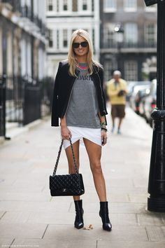this skirt. (pictured: Bernadette) #streetstyle #fashion