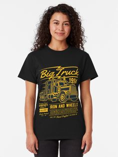 """Big Truck T-Shirt von Lordstilgar Big Trucks, Chiffon Tops, Classic T Shirts, Shirt Designs, Woman, Fashion, Fishing, Moda, Fashion Styles"