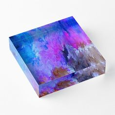 'Eruption Quirk' Acrylic Block by Faye Anastasopoulou Decorative Throw Pillows, Decorative Items, Framed Prints, Canvas Prints, Art Prints, Home Office Accessories, Theme Pictures, Colourful Living Room, Fancy Houses