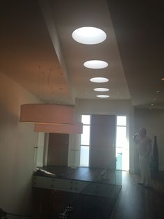 unique use of skylights - could do the same thing with Sola-tubes