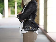 CHANEL MINI FLAP RECTANGULAR BAG BLACK CAVIAR http://www.lindsaysdiaries.com