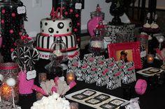 Fierce, Fab & 40 theme/ Zebra & Pink