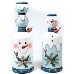 The Decorative Painting Store: Snowman Candlesticks DOWNLOAD, Newly Added Pattern Packets